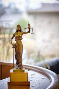 W Michael Greene Order of Barristers statue